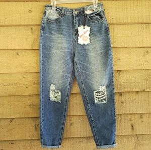 Hot Kiss High Rise Cropped Jeans